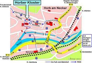 Anfahrtsskizze Kloster Horb