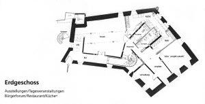 Lageplan-Grundriss-EG-Kloster-Horb-Dokumentation-2002
