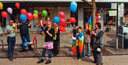 2009-Luftballonaktion in Horb