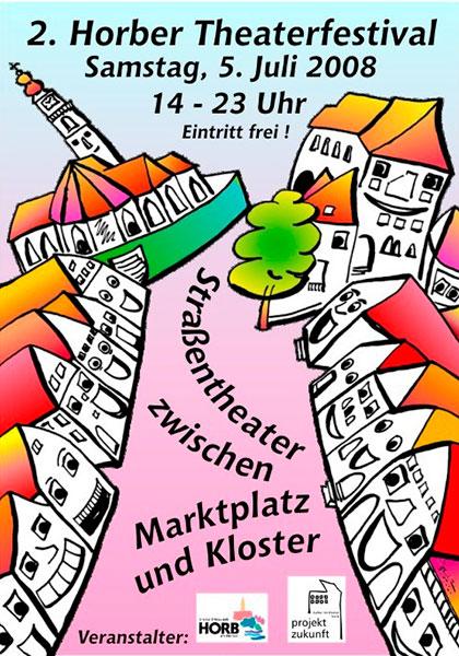 Plakat des Theaterfestivals 2008