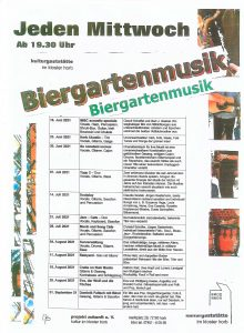Biergarten Musik 2020 Programm